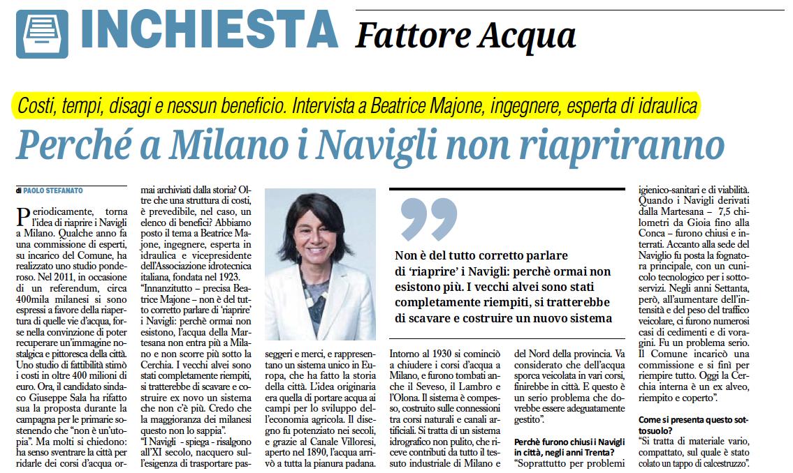 Perché a Milano i Navigli non riapriranno_Intervista a Beatrice Majone