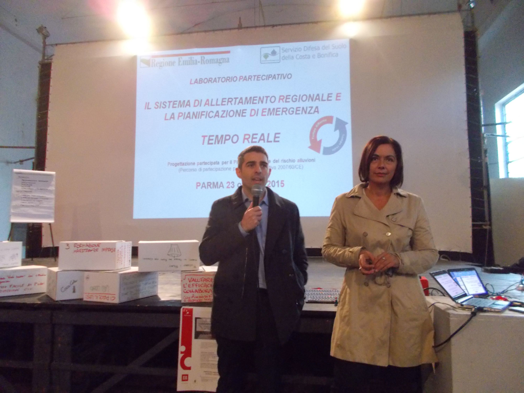 il sindaco di Parma Federico Pizzarotti e l'assessore regionale Paola Gazzolo