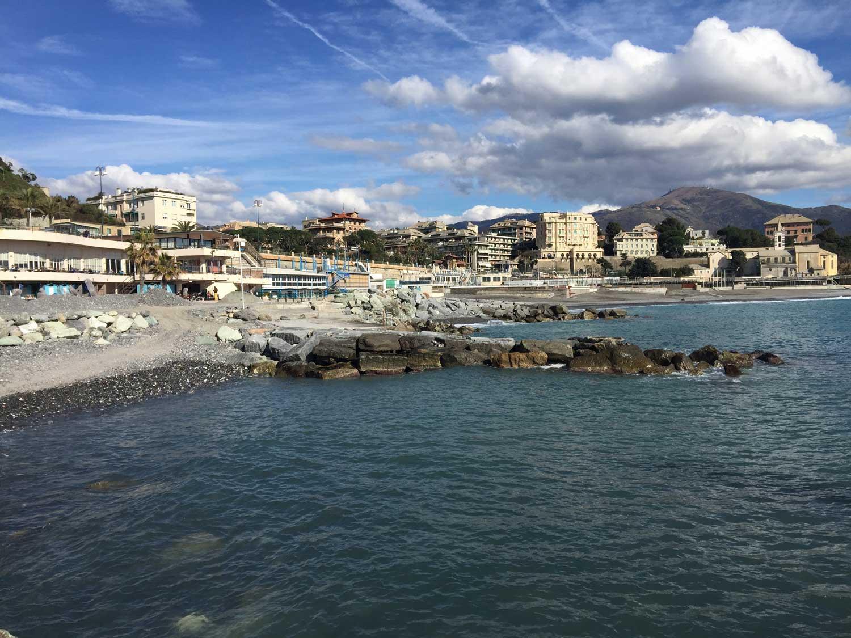 inquadramento della zona di sbocco a mare (zona corso italia)