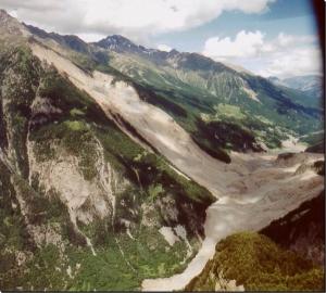 La Val Pola dopo la frana
