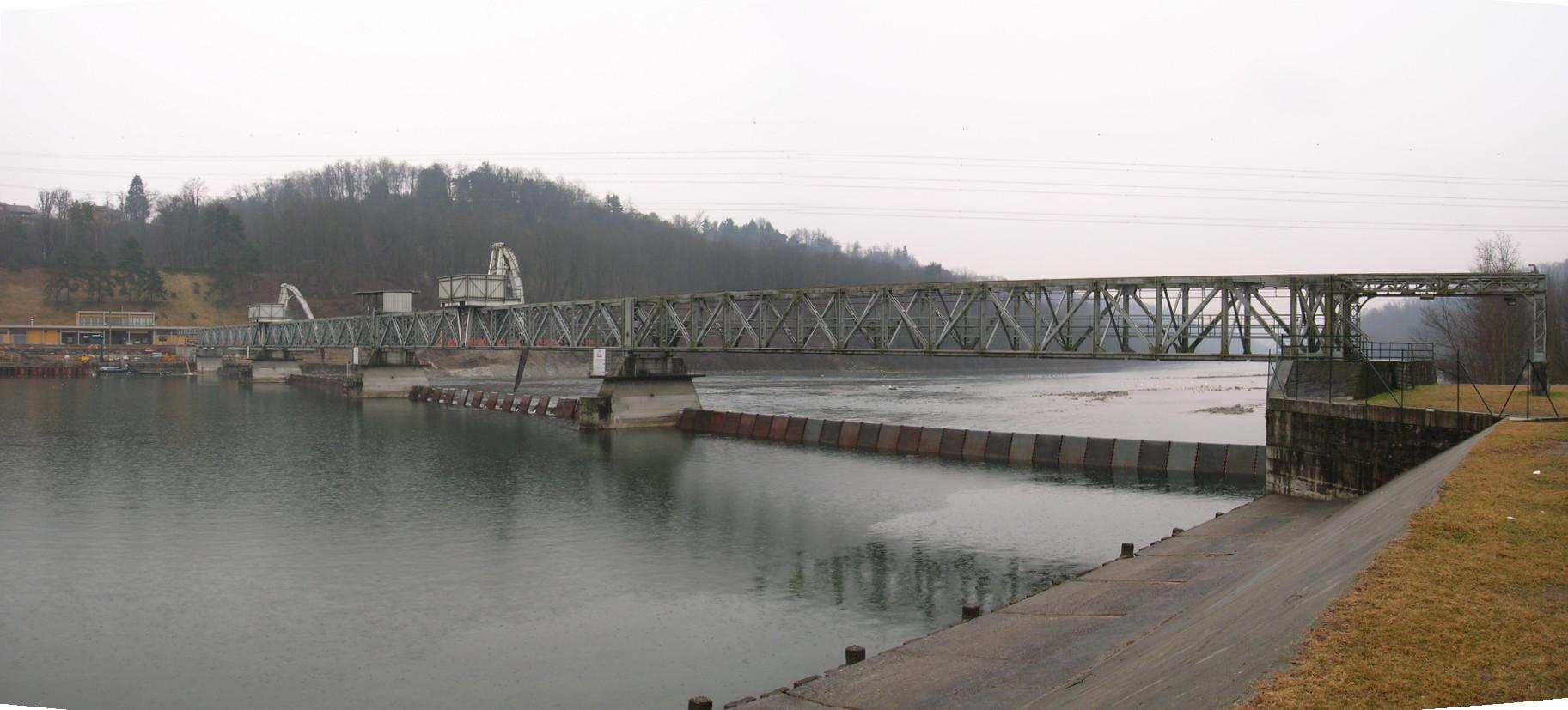 """02- prospetto monte. Ricerca sul DMV """"Deflusso Minimo Vitale"""" del fiume Ticino dalla diga della Miorina alla confluenza con il Po"""