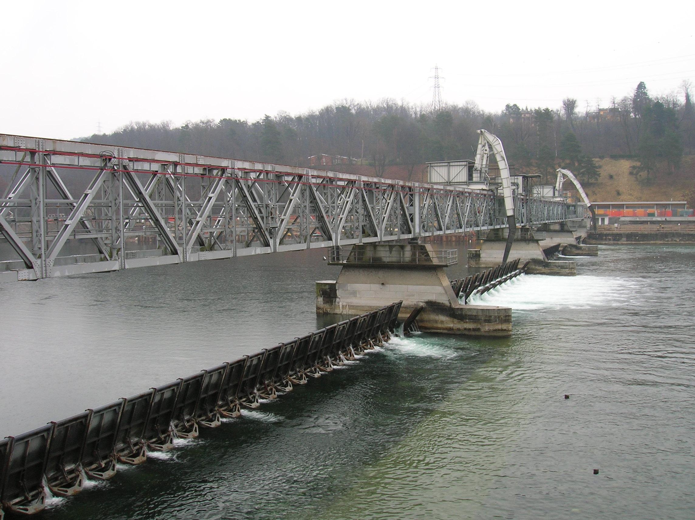 """04- la diga. Ricerca sul DMV """"Deflusso Minimo Vitale"""" del fiume Ticino dalla diga della Miorina alla confluenza con il Po"""