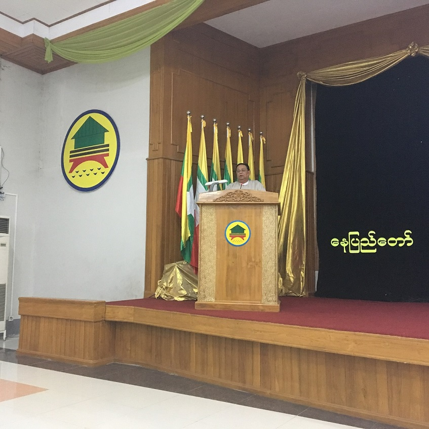 02 - welcome U Win Khaing, Minister of Construction, Naypyitaw