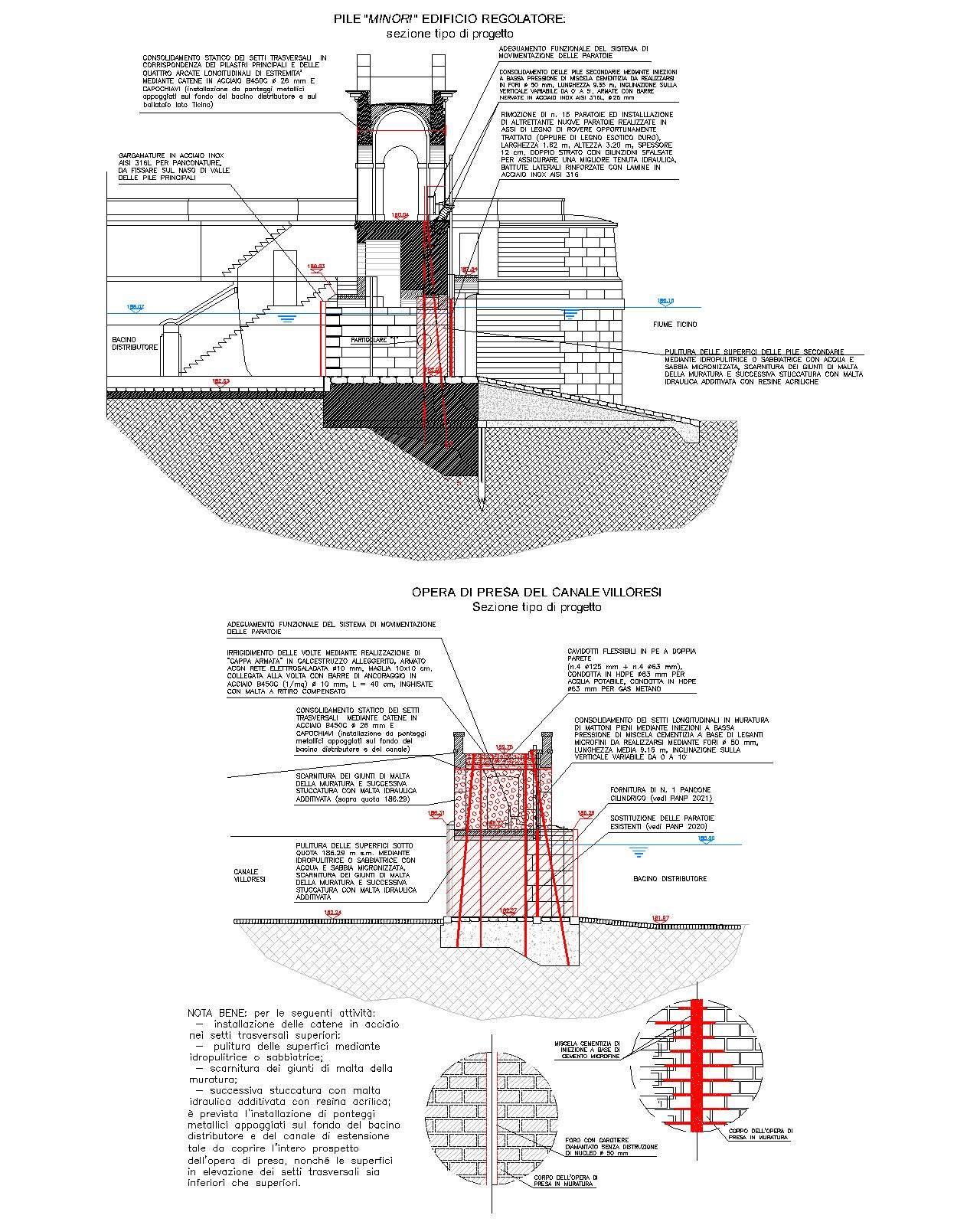 04 - Consolidamento edificio regolatore Canale Villoresi