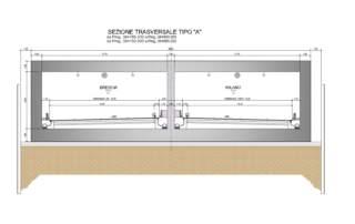 04- Sezione grafica tipologica galleria